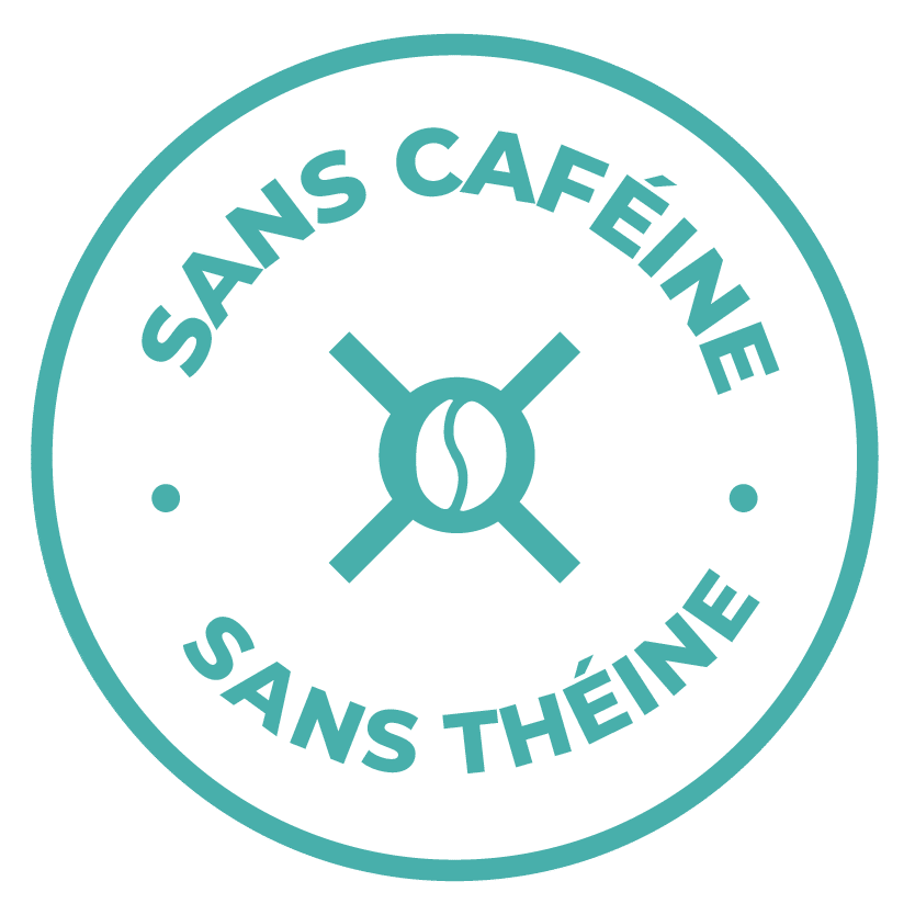 émoticône sans caféine, sans théine