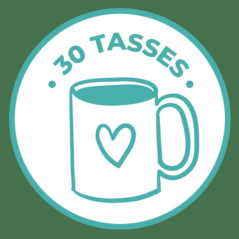 émoticône 30 tasses