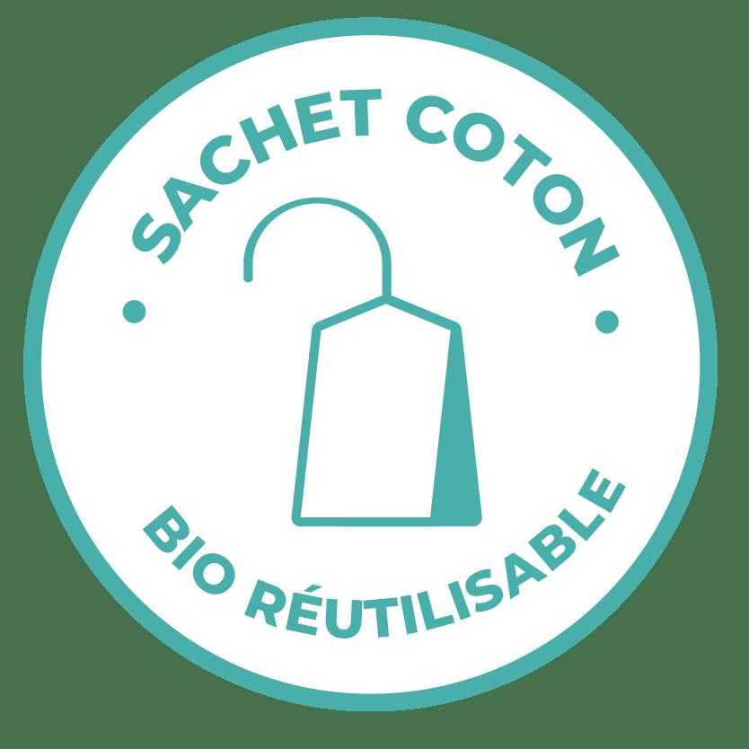 émoticône sachet coton bio